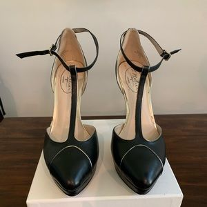 Black Retro Swing Dancing High Heels